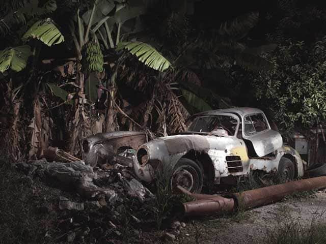 This 1955 Mercedes Gullwing is rotting in a jungle somewhere in Cuba. It is rumored to have once belonged to Fulgencio Batista. Batista was dictator of Cuba from 1952 to 1959 prior to Fidel Castro's revolution.