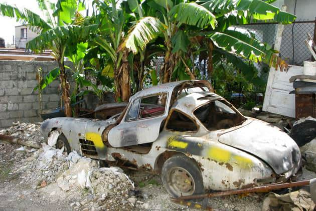1955 Gullwing that is allegedly located somewhere on Cuba.