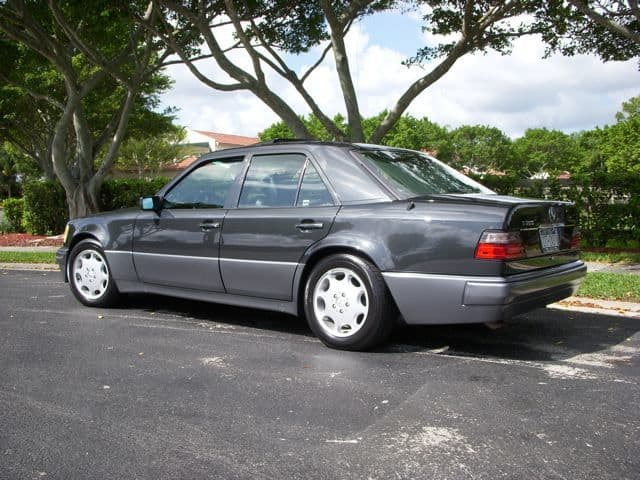 The majority of 500E/E500's came in this exact color combination, dark metallic gray with back interior. I have seen red, spruce green, smoke silver, and silver versions but the car seems most handsome in this color combination.