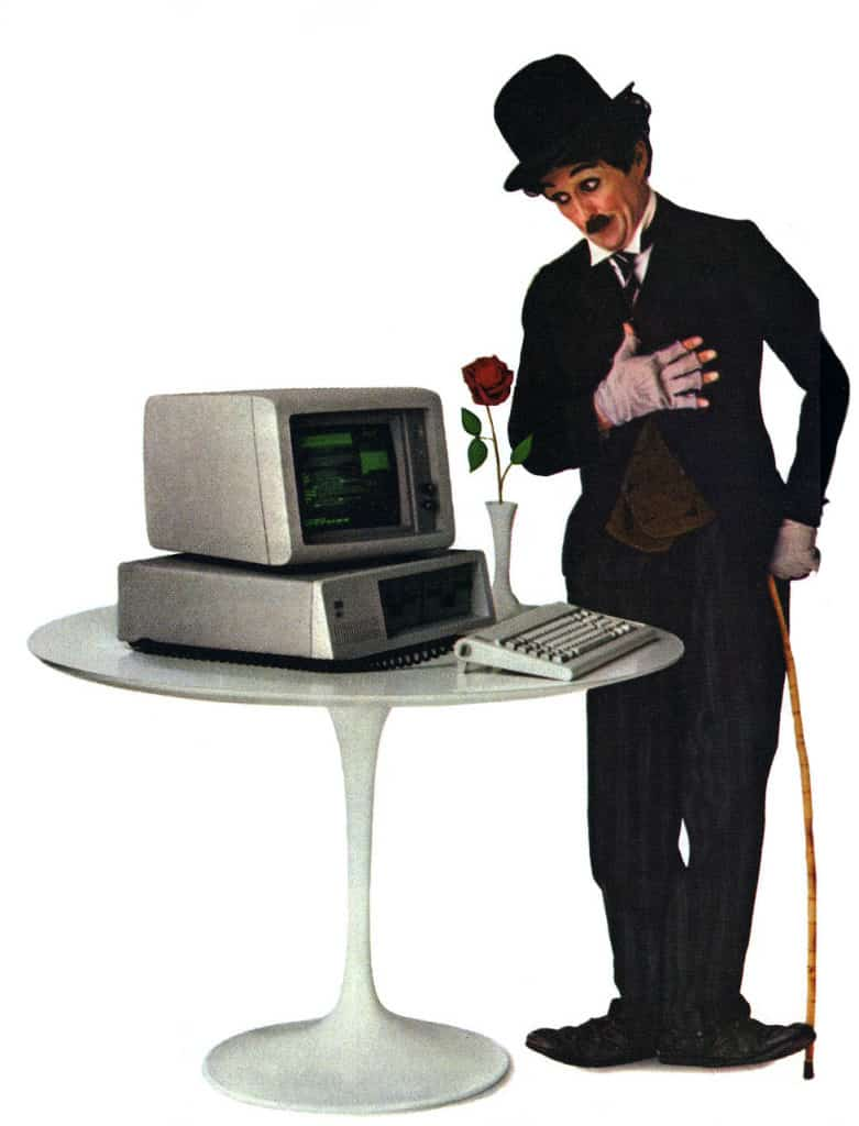 LGFE's highly successful Charlie Chaplin IBM PC advertisements were a real hit in the early 1980's.