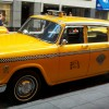 NYC Icon: A classic Checker Cab from a bygone era.