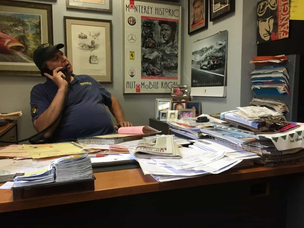 "John ""Cheech"" Fernades in action at Rennwerke mission control center in Elmsford, New York."