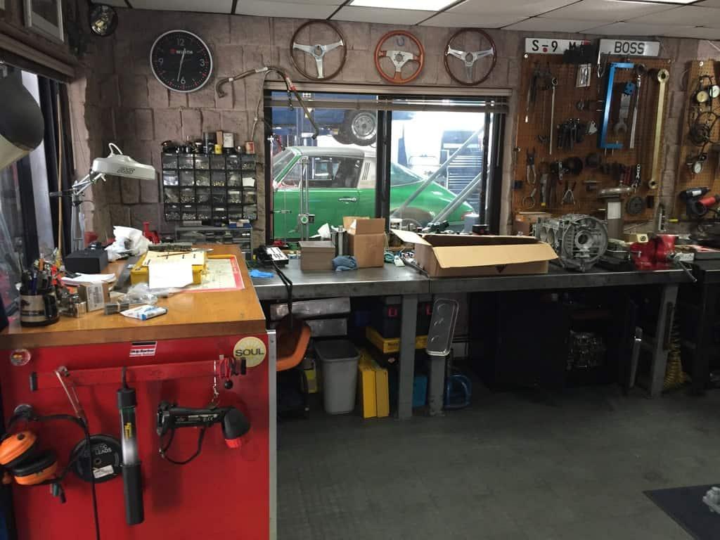 Engine workshop at Rennwerke