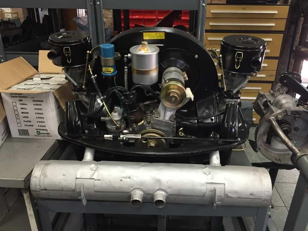 Recent restoration of an old 356 motor.