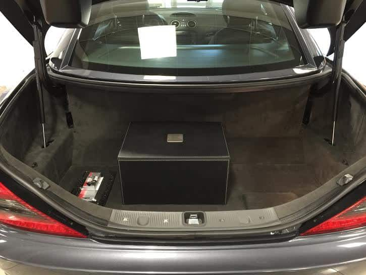 The leather box holds the factory AMG cover which has never been used.