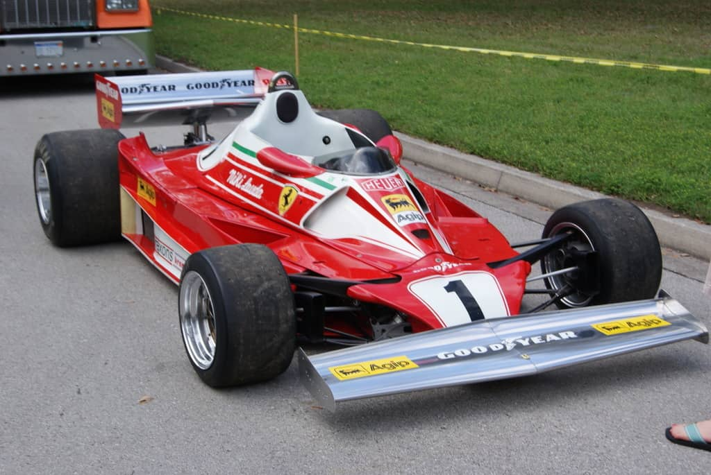 Niki Lauda's F1 car at Amelia Island, photo by Dean Laumbach