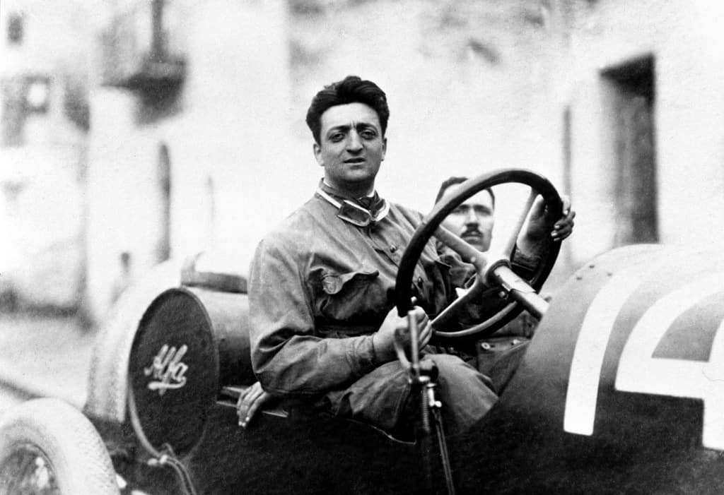 Enzo Ferrari in his younger days.