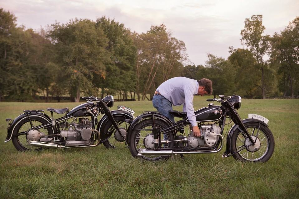 'To me, these bikes are industrial art,' says Mr. Richter. JAMES ROBERT FULLER FOR THE WALL STREET JOURNAL