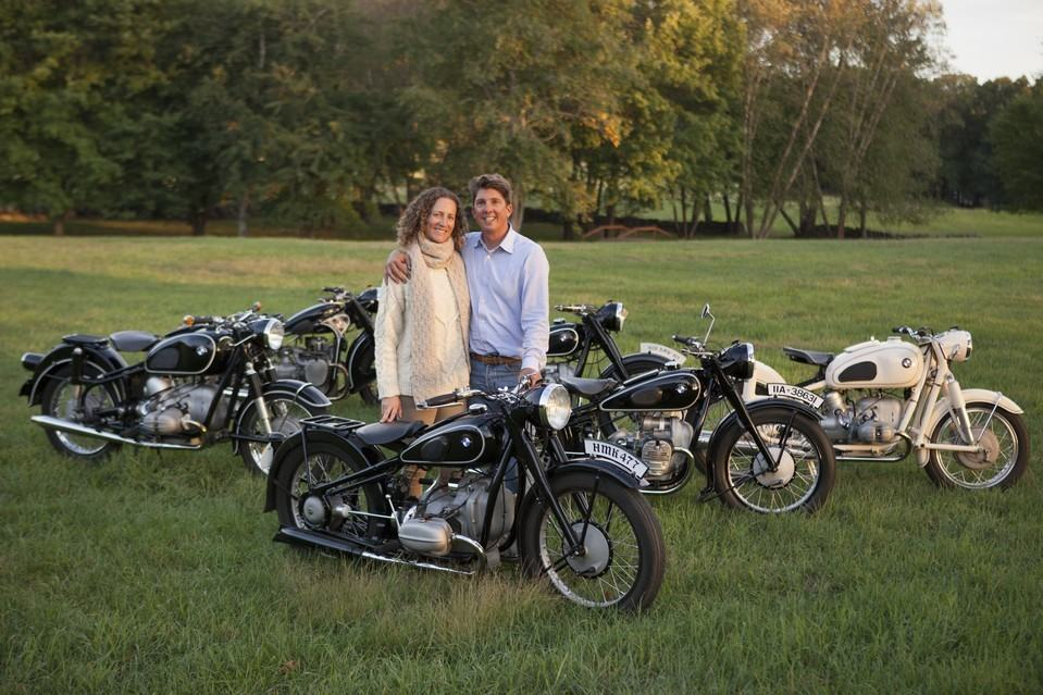 Mr. Richter with his wife, Sarah Willeman, who shares his passion for old BMW machinery. JAMES ROBERT FULLER FOR THE WALL STREET JOURNAL