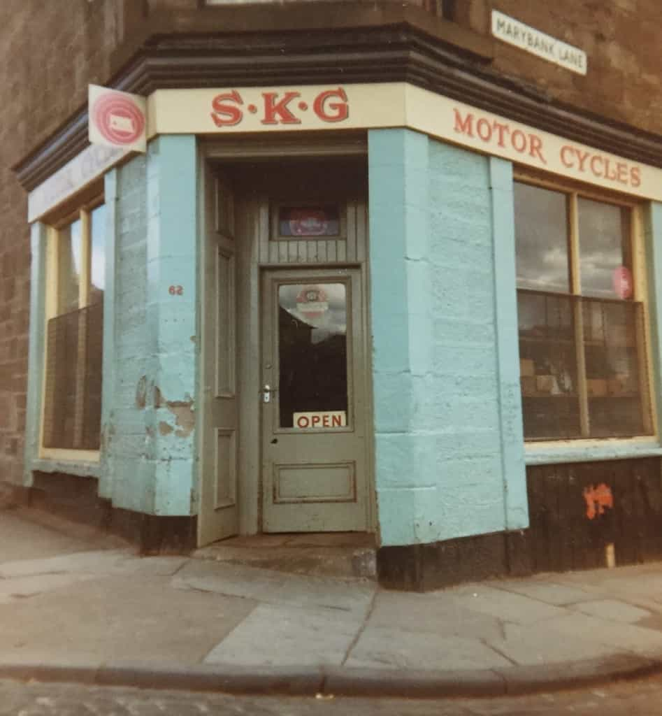 SKG Motor Cycles was a shop owned by Mr. Stanley Garland, the second owner of HPD 329