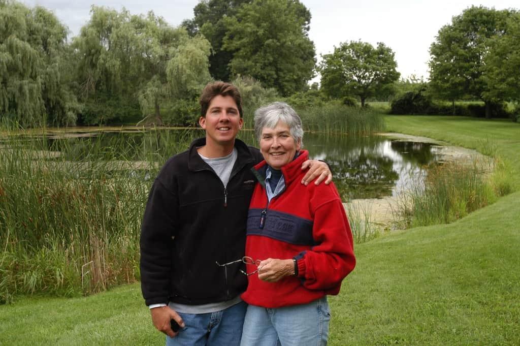 AJ and PER at the North Farm