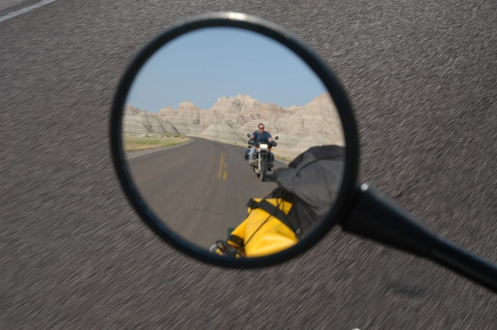 The rear view mirror always was quite a sight...