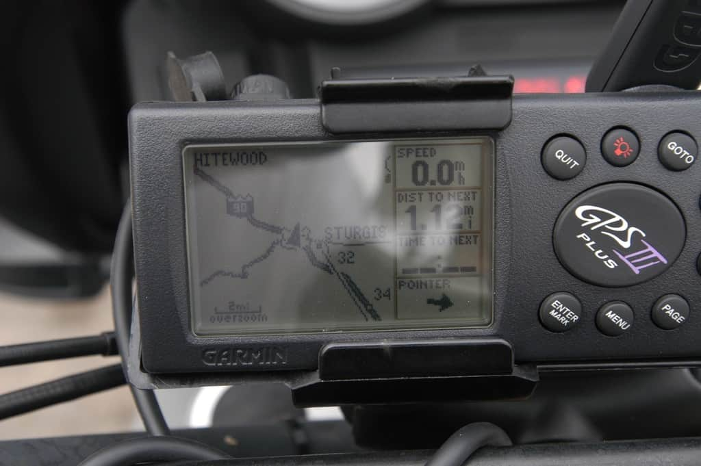 Even in 2004 we had onboard GPS....