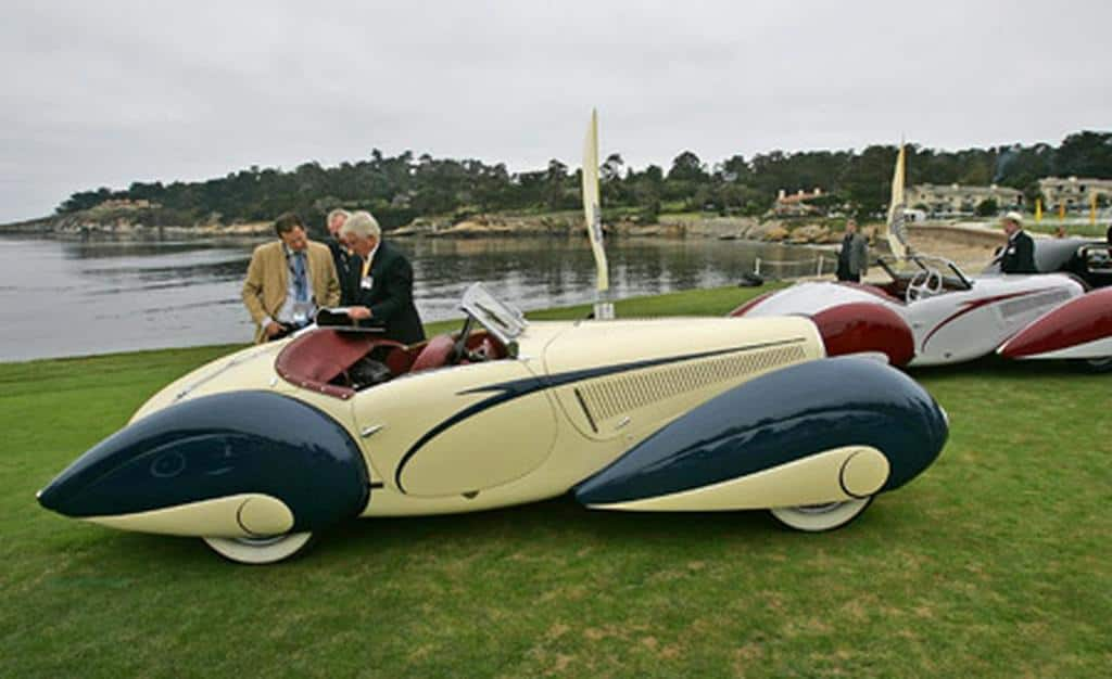 Malcolm Pray with his French Mistress at Pebble Beach 2012