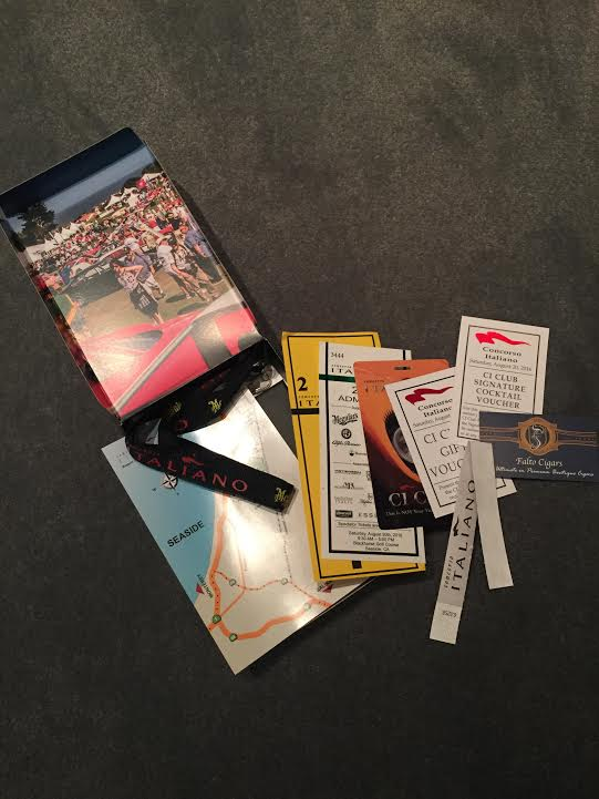 Credentials for tomorrow's Concorso