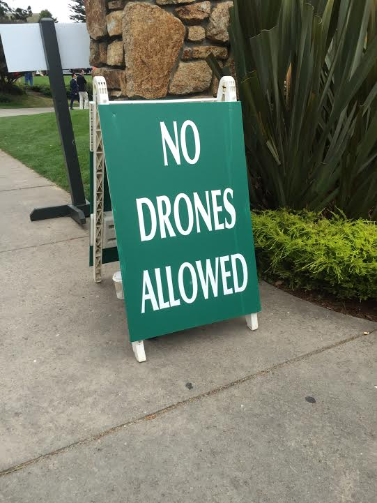 Welcome to Pebble Beach. Please leave your drones at the door.