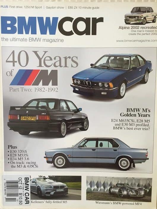BMW magazines are also focusing on the collectability of early MM cars.