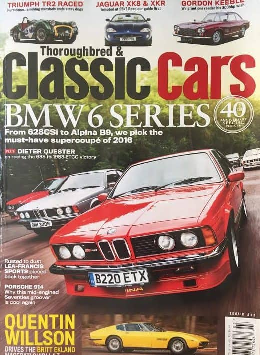 BMW 6 series cars are gaining respect in the collector car media world.
